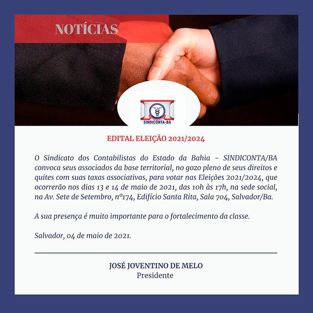 Edital de Eleição 2021/2024